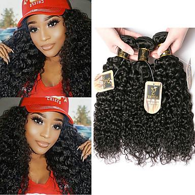 povoljno Ekstenzije od ljudske kose-6 paketića Brazilska kosa Kinky Curly Remy kosa Ljudske kose plete Bundle kose Jedan Pack Solution 8-28 inch Prirodna boja Isprepliće ljudske kose Odor Free Nježno Gust Proširenja ljudske kose