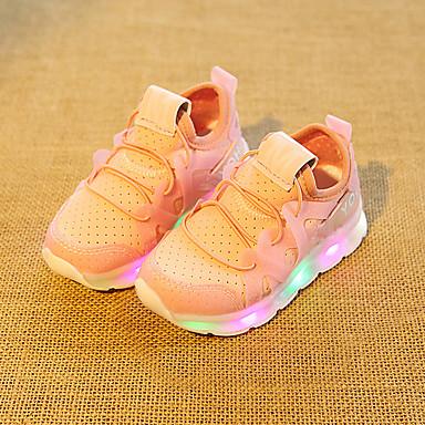 voordelige Babyschoenentjes-Jongens Oplichtende schoenen Elastische stof Sneakers Peuter (9m-4ys) / Little Kids (4-7ys) Wit / Zwart / Roze Zomer / Rubber