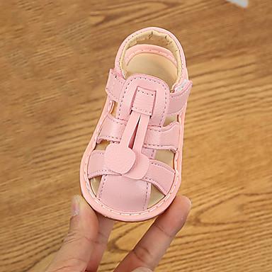 levne Dětské botičky-Chlapecké / Dívčí Pohodlné mikrovlákno Sandály Batole (9m-4ys) Bílá / Žlutá / Růžová Léto / Guma
