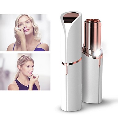 cheap Beauty & Hair-Mini Electric Epilator Women Painless Hair Removal Female Upper Lip Cheeks Lipstick Shaver Face Hair Remover