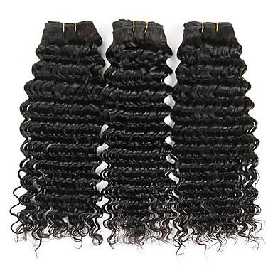 povoljno Ekstenzije od ljudske kose-3 paketa Brazilska kosa Duboko Val Virgin kosa Ljudske kose plete Ekstenzije od ljudske kose 8-28 inch Prirodna boja Isprepliće ljudske kose Nježno Rasprodaja Cool Proširenja ljudske kose