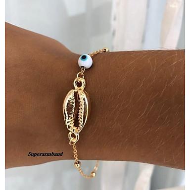 levne Pánské šperky-Pánské Přátelský náramek Retro Mušle Moderní Módní Slitina Náramek šperky Zlatá Pro Denní Street