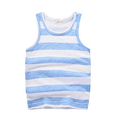 cheap Baby & Kids-Kids Boys' Basic Striped Sleeveless Cotton Tank & Cami Green
