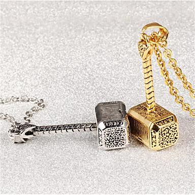 povoljno Modne ogrlice-Muškarci Žene Kvačice za privjeske Geometrijski Kreativan Moda Titanium Steel Broš Jewelry Zlato Pink Za Dar Dnevno