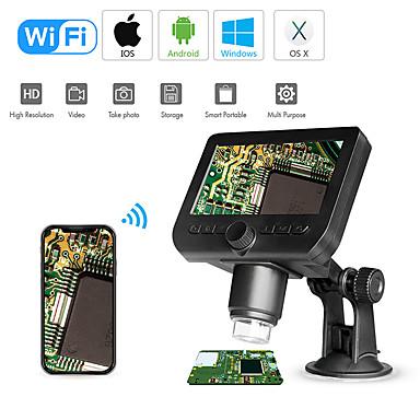 levne Mikroskopy a endoskopy-wifi digitální mikroskop 4.3led displej 720p 50x-1000x zvětšení 1080p fhd 2,0 mp 8 led pro Android a ios tablet pc