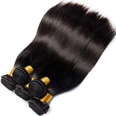 povoljno Ekstenzije od ljudske kose-6 paketića Malezijska kosa Ravan kroj 100% Remy kose tkanja Bundle Ljudske kose plete Bundle kose Jedan Pack Solution 8-28 inch Prirodna boja Isprepliće ljudske kose Život Nježno Jednostavan dressing