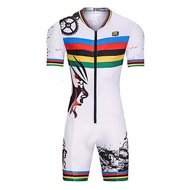 malciklo homme femme manches courtes tenue de triathlon trifonction blanc v lo r sistant aux uv