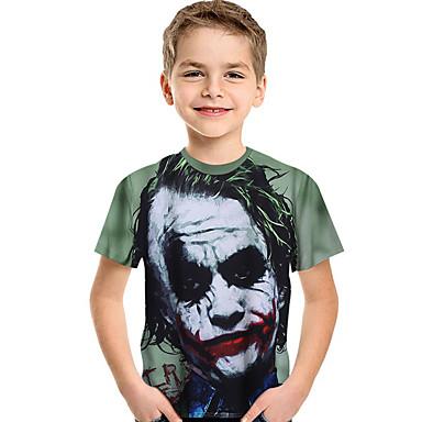 povoljno Odjeća za dječake-Djeca Dijete koje je tek prohodalo Dječaci Aktivan Osnovni Print Print Kratkih rukava Majica s kratkim rukavima Djetelina