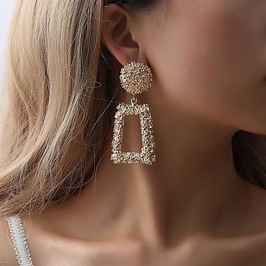 povoljno Modne naušnice-Žene Naušnica Klasičan Naušnice Jewelry Crn / Rose Gold / Zlato Za Ulica Jabuka 1 par