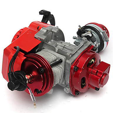 cheap Auto Parts-49cc High Performance Minimoto Pocket Bike ATV Engine Air Cooled CNC Cylinder Pull Starter 2 Stroke