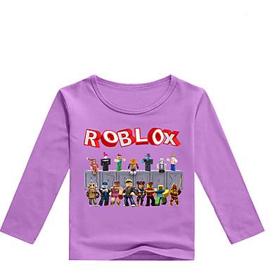 povoljno Odjeća za dječake-Djeca Dijete koje je tek prohodalo Dječaci Osnovni Print Print Dugih rukava Pamuk Majica s kratkim rukavima Sive boje