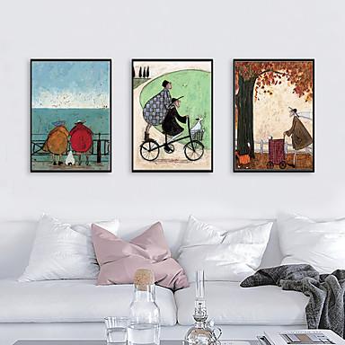 cheap Framed Arts-Framed Art Print Framed Set - People Cartoon PS Illustration Wall Art