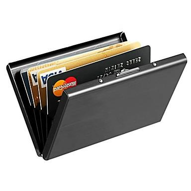 cheap Wallets-Unisex Alloy Wallet Solid Color Silver / Black
