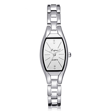 cheap Square & Rectangular Watches-Women's Quartz Watches Quartz Modern Style Stylish Casual Cute Silver / Gold Analog - White Black Silver