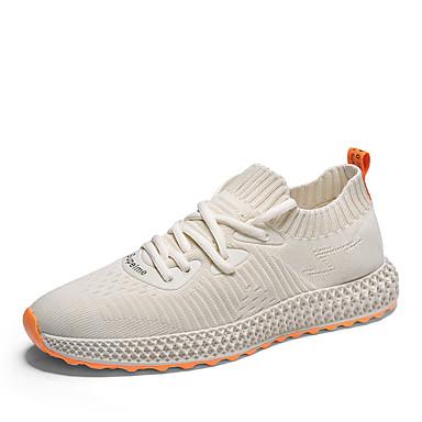 Ανδρικά Παπούτσια άνεσης Δίχτυ Φθινόπωρο / Ανοιξη καλοκαίρι Αθλητικό / Καθημερινό Αθλητικά Παπούτσια Αναπνέει Μαύρο / Λευκό / Μπεζ / Μη ολίσθηση / Φορέστε την απόδειξη