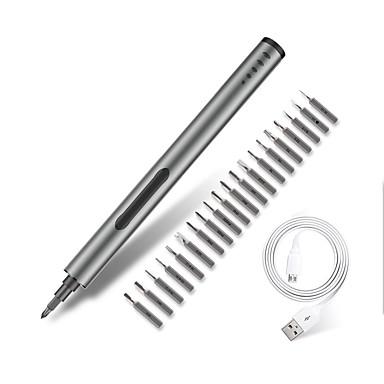 levne Przyrządy zasilane-mini elektrický šroubovák dobíjecí akumulátorový napájecí šroub šroubovák s led světlo lithium baterií poháněné nářadí