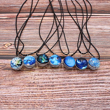 cheap Pendant Necklaces-Men's Women's Pendant Necklace Necklace Classic Mini Dainty Unique Design Trendy Fashion Resin Chrome White Black Light Green Blue Black / White 45 cm Necklace Jewelry 1pc For Carnival Holiday Street
