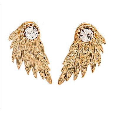 levne Dámské šperky-Dámské Kubický zirkon Náušnice Geometrické Andělská křídla stylové Náušnice Šperky Zlatá / Bílá / Černá Pro Dar Denní 1 Pair
