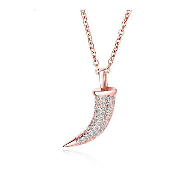 povoljno Modne ogrlice-Žene Kubični Zirconia Kvačice za privjeske Geometrijski Csillag Nada nož Moda Pozlaćeni Broš Jewelry Rose Pink Za Dnevno Obećanje