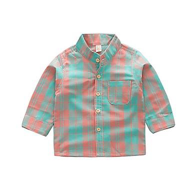 povoljno Odjeća za dječake-Djeca Dječaci Osnovni Geometrijski oblici Dugih rukava Pamuk Majica Djetelina