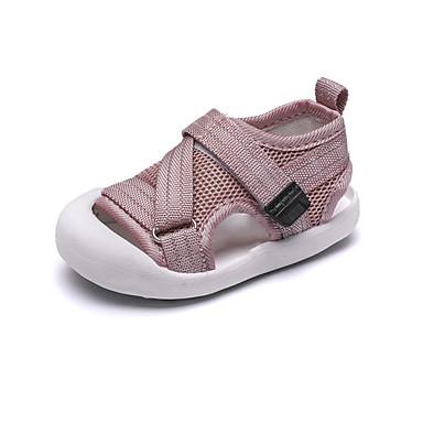 voordelige Babyschoenentjes-Jongens / Meisjes Comfortabel Netstof Sandalen Peuter (9m-4ys) Zwart / Grijs / Roze Zomer / Rubber
