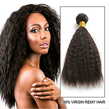 povoljno Ekstenzije od ljudske kose-6 paketića Brazilska kosa Kinky Ravno Remy kosa Ljudske kose plete Bundle kose Jedan Pack Solution 8-28inch Prirodna boja Isprepliće ljudske kose Odor Free Sexy Lady Gust Proširenja ljudske kose