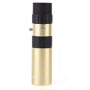 cheap Binoculars, Monoculars & Telescopes-LUXUN® 10-90 X 25 mm Monocular Lenses Waterproof High Definition Antiskid BAK4 Hunting Performance Camping / Hiking / Caving Copper