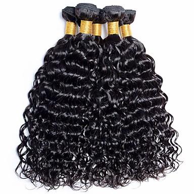 povoljno Ekstenzije od ljudske kose-6 paketića Brazilska kosa Water Wave Netretirana  ljudske kose Ljudske kose plete Bundle kose Jedan Pack Solution 8-28 inch Prirodna boja Isprepliće ljudske kose Odor Free Klasični Udobnost