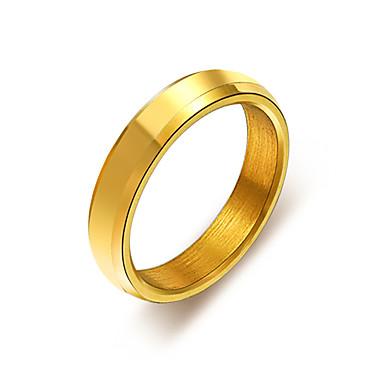 levne Dámské šperky-Pro páry Snubní prsteny Prsten Tail Ring 1ks Zlatá Černá Stříbrná Slitina Kulatý Jednoduchý Klasické Dar Denní Šperky Klasika Cool