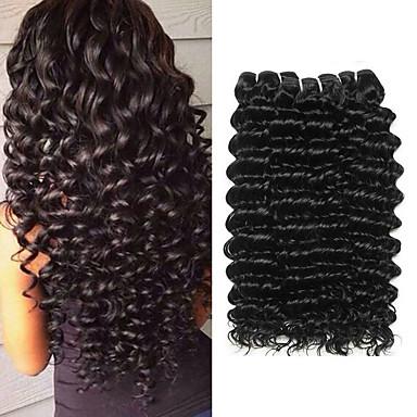 povoljno Ekstenzije od ljudske kose-3 paketa Brazilska kosa Duboko Val Remy kosa Ljudske kose plete Ekstenzije od ljudske kose 8-28 inch Prirodna boja Isprepliće ljudske kose Nježno Rasprodaja Cool Proširenja ljudske kose