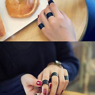levne Pánské šperky-Pánské Dámské manžeta Ring Sada kroužků Otevřete kruh 3ks Černá Slitina Circle Shape stylové Jednoduchý Vintage Párty Dar Šperky Retro / Nastavitelný kroužek