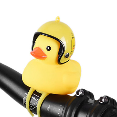 billige Sykkeltilbehør-Sykkelklokke Frontlys til sykkel Gult, lite Duck Shape Vanntett Lettvekt Shining Stretch Holdbar til Vei Sykkel Fjellsykkel Foldesykkel Sykling silica Gel Rød Blå Grå 1 pcs