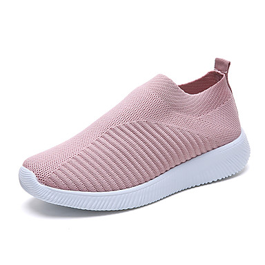 cheap Dusty Rose-Women's Sneakers Flat Heel Tissage Volant Spring & Summer / Fall & Winter Dusty Rose / Black / Blue