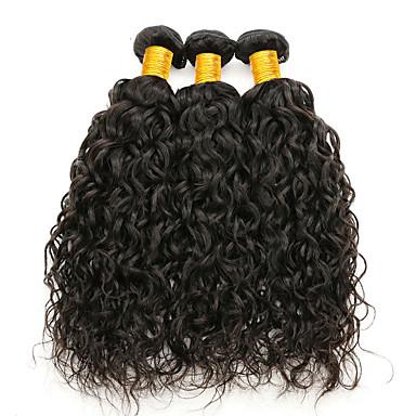 povoljno Ekstenzije od ljudske kose-3 paketa Brazilska kosa Water Wave Netretirana  ljudske kose Ljudske kose plete Ekstenzije od ljudske kose 8-28 inch Prirodna boja Isprepliće ljudske kose Sigurnost Rasprodaja Gust Proširenja ljudske