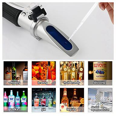levne Testovací, měřící a kontrolní vybavení-refraktometr alkohol ho meter metr 0 ~ 80% v / v atc ruční nástroj hustoměr rz116 koncentrace lihovin tester víno
