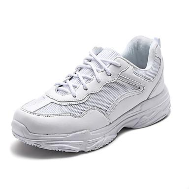 voordelige Babyschoenentjes-Meisjes Comfortabel / Vulcanized Shoes Rubber / Nappaleer Sportschoenen Peuter (9m-4ys) / Little Kids (4-7ys) / Big Kids (7jaar +) Hardlopen / Wandelen Gevlochten bandje Wit / Zwart / Rood Lente