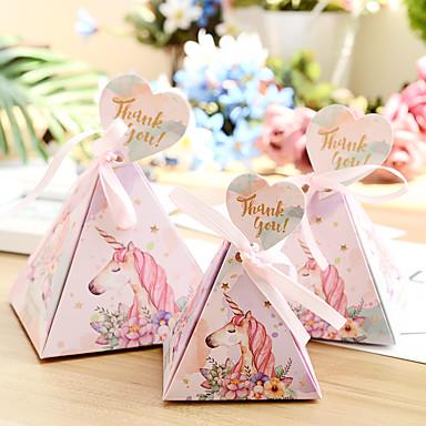 povoljno Svadbeni poklončići-Taper Shape Pearl papira Naklonost Holder s Uzde Kutija za pohranu / Poklon kutije / Vrećice za kekse - 50 kom.