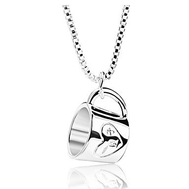 povoljno Modne ogrlice-Žene Ogrlice s privjeskom šalica Jednostavan pomodan Krom Pink 52 cm Ogrlice Jewelry 1pc Za Dnevno Festival