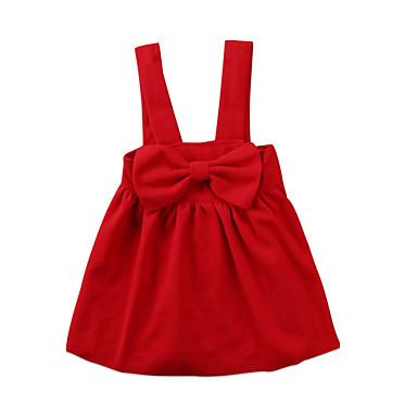 preiswerte Röcke für Mädchen-Kinder Baby Mädchen Solide Baumwolle Rock Rote