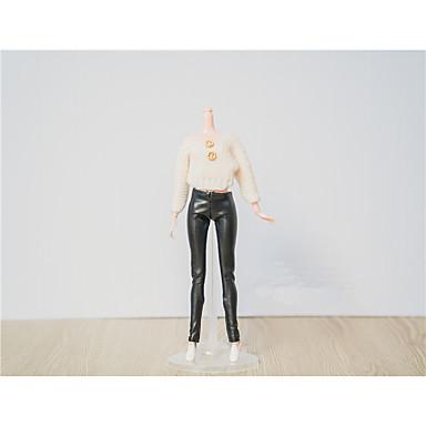 levne Doplňky pro panenky-Doll Top stylové Topy Pro Barbie Módní Bílá Krajka Bavlněné tkaniny Vlněná tkanina Vrchní deska / T-Back Pro Dívka je Doll Toy