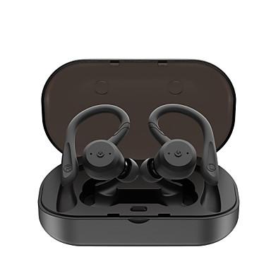 hesapli Kulaklıklar ve Kulaklıklar-Litbest be1018 tws kulakiçi spor açık spor yüzme kulaklık kablosuz bluetooth 5.0 stereo ile 2 çift köpekbalığı yüzgeci adet 1 çift kulak kancası ipx7 su geçirmez dokunmatik kontrol