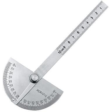 levne Testovací, měřící a kontrolní vybavení-180 stupňů nastavitelný úhloměr multifunkční nerezové kulaté úhlové pravítko matematika měřicí nástroj