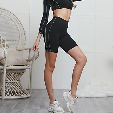 בגדי ריקוד נשים מכנסי יוגה יוגה למעלה צבע אחיד כושר אמון תחתיות לבוש אקטיבי רך מיקרו-אלסטי רזה