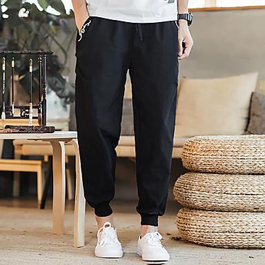 בגדי ריקוד גברים מסלול מכנסי ספורט קרן רגל ספורט מכנסיים ג'וגינג שמור על חום הגוף קל משקל נושם אופנתי שחור אפור בורדו M L XL XXL XXXL 4XL / כותנה / מיקרו-אלסטי / ייבוש מהיר / ייבוש מהיר