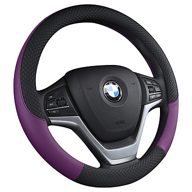 billige Interiørtilbehør til bilen-bil ratt dekker kunst / lær 38cm svart / hvit / lilla / oransje for universal