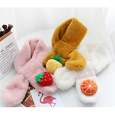 preiswerte Kinder Schals-Kinder / Baby Unisex Grundlegend Solide / Frucht Polyester Schals Gelb / Leicht Blau / Khaki Einheitsgröße