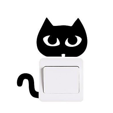 מופתע חתול האור לעבור מדבקה מדבקות קיר - מילים& ציטוטים ampamp קיר מדבקות תווים חדר לימוד / משרד / חדר אוכל / מטבח