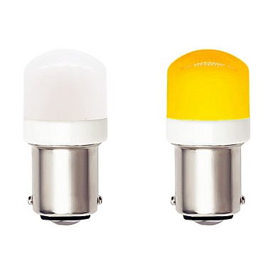 billige Motorsykkel & ATV tilbehør-2pcs 1156 ba15s bilbil ledet pærer 4,5w 9-30v 3030 smd 6 led hvit gul for sving signal lampe drl tåkelampe bremselys
