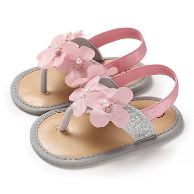 preiswerte Shoes Trends-Mädchen Lauflern PU Sandalen Kleinkinder (0-9 m) / Kleinkind (9m-4ys) Gold / Silber / Rosa Sommer