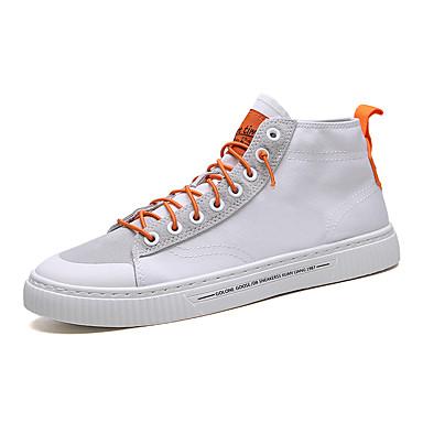Ανδρικά Φως πέλματα Πανί / Ελαστικό ύφασμα Ανοιξη καλοκαίρι Αθλητικό Αθλητικά Παπούτσια Λευκό / Μαύρο / Γκρίζο